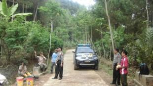 patroli daerah rawan longsor di Ds. garunglor