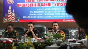 Rakord Lintas Sektoral persiapan Operasi Lilin Candi 2015 Polres Wonosobo