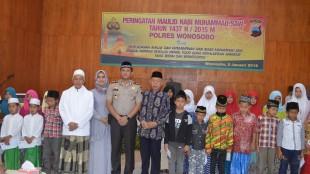 Peringatan Maulid Nabi Muhammad SAW di Polres Wonosobo
