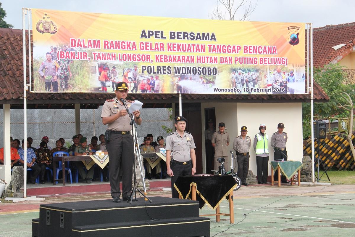 Apel Gelar Kekuatan Tanggap Bencana Kabupaten Wonosobo