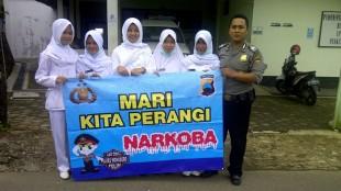 OPerasi Bersinar Candi 2016 Polres Wonosobo : karyawan Puskesmas diajak Kampanye Anti Narkoba