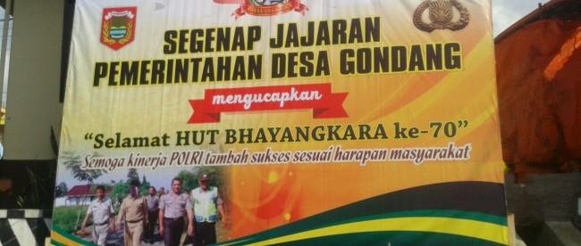 Ucapan selamat dari Pemerintah Desa Gondang