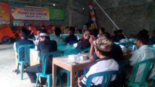Kapolsek Sosialisasi Pilkades Desa Wonosari