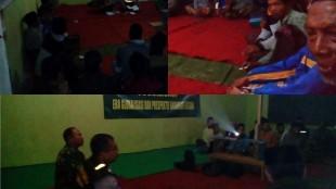 Bhabinkamtibmas desa Bomerto melakukan penyuluhan tent