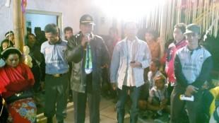 Kapolsek Kalikajar memberikan sambutan