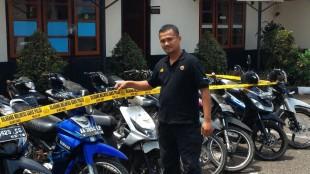 Puluhan Sepeda motor disita dari pelaku curanmor