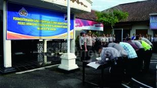 Penandatanganan surat pernyataan tidak akan terlibat penyalahgunaan narkoba