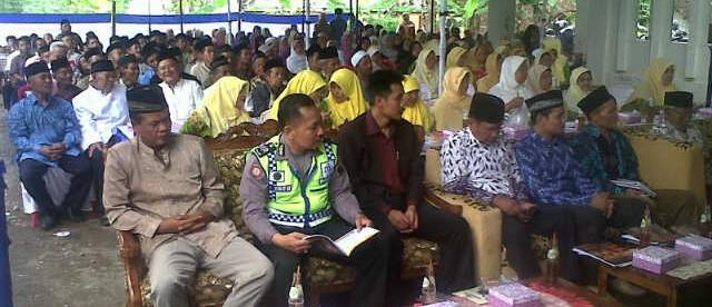 kanit sabhara bersama muspika di Muscab Muhammadiyah Sukoharjo