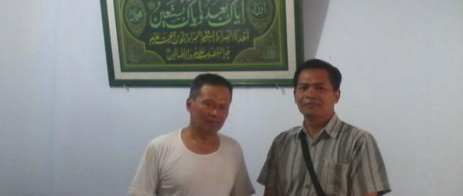 Kanit Intel Polsek Mojotengah Bripka Suyatno Dodi Utomo sambangi ketua pimpinan cabang muhammadiyah/PCM Mojotengah Bp. Khozim